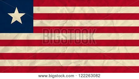 Vector image of the Liberia  paper  flag