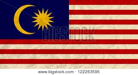 Vector image of the Malaysia  paper  flag