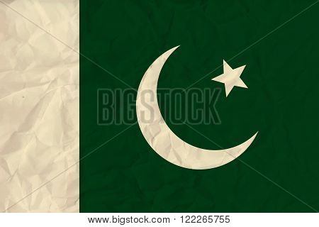 Vector image of the Pakistan  paper  flag