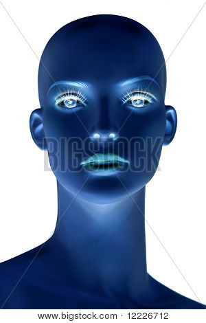 Face Of A Bald Mannequin