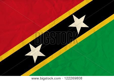 Vector image of the Saint Kitts and Nevis  paper  flag