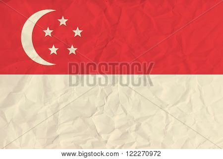 Vector image of the Singapore paper flag