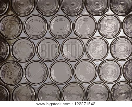 Circle translucent glass vector texture or background
