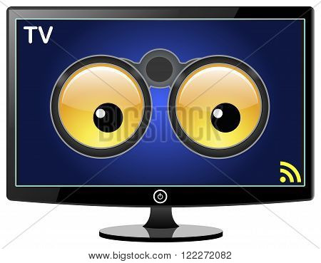 Smart TV is watching You. Smart TVs can track your TV watching habits and share these information for commercial purposes