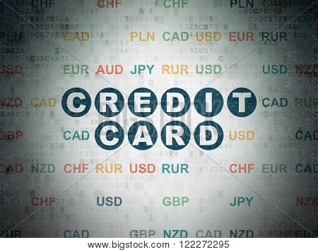 Currency concept: Credit Card on Digital Paper background