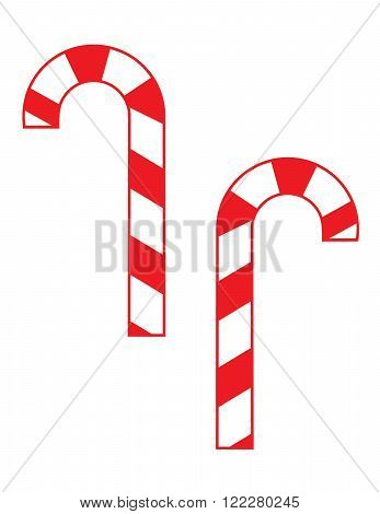 Vector Festive Christmas Candy Can Set in Colour