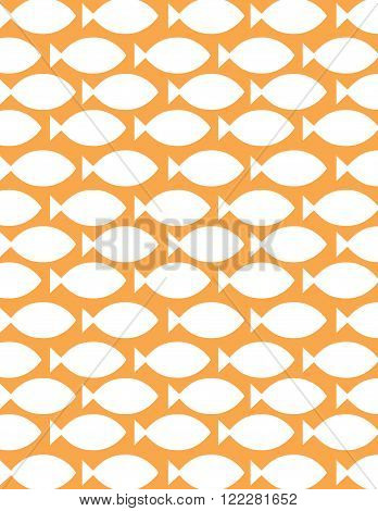 Vector Repeating Gold Fish Pattern and Wall Paper