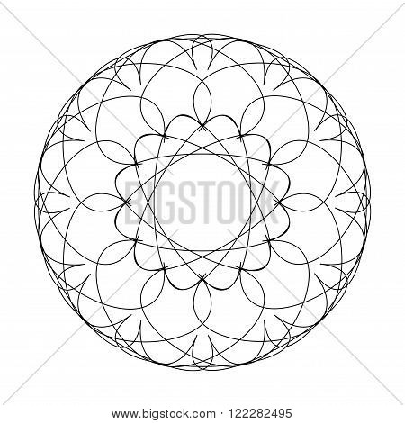 Guilloche decorative element. Vector illustration. Suitable for logos, stamps and other