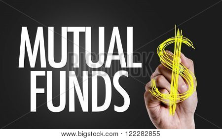 Hand writing the text: Mutual Funds