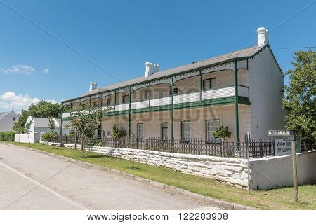 SOMERSET EAST SOUTH AFRICA - FEBRUARY 19 2016: Historic Georgian building built around 1815 as officers quarters now an art gallery