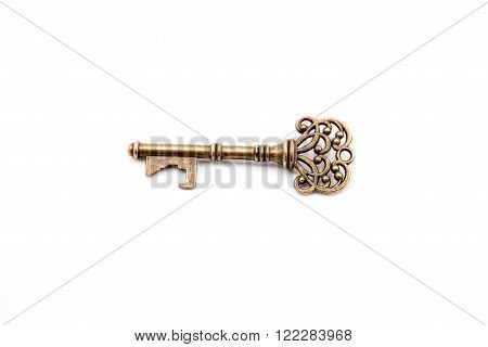 an old brass key from the old days