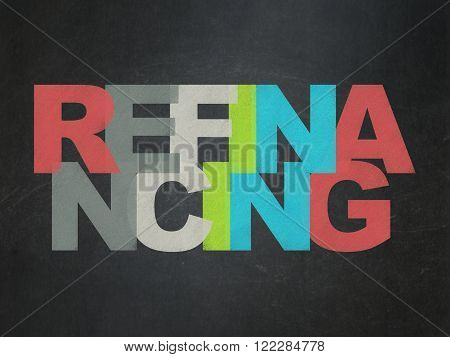 Finance concept: Refinancing on School Board background