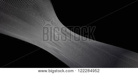 Silver wave shapes on black background. Vector illustration for modern business design. Abstract wave Classy pattern for business presentation, card, flyer and brochure.