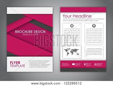 Brochures In The Style Of The Material Design