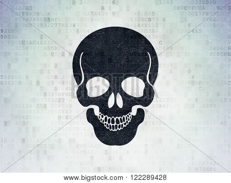 Medicine concept: Scull on Digital Paper background