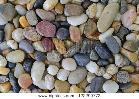Background texture photo of colorful stone, small pebbles, natural colors