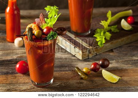 Homemade Bacon Spicy Vodka Bloody Mary