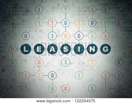 Business concept: Leasing on Digital Paper background