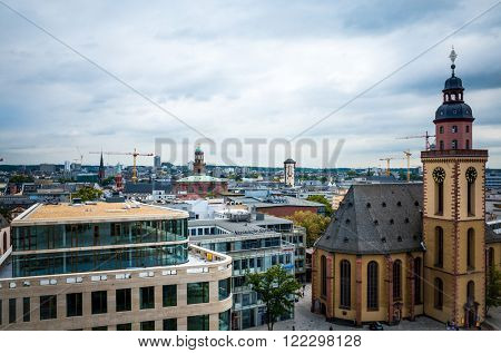 FRANKFURT, HESSE-February 12 : Frankfurt is the largest city in the German state of Hesse and the fifth-largest city in Germany,February 12,2014 in Frankfurt, Germany.
