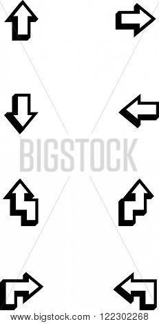 arrows symbols set