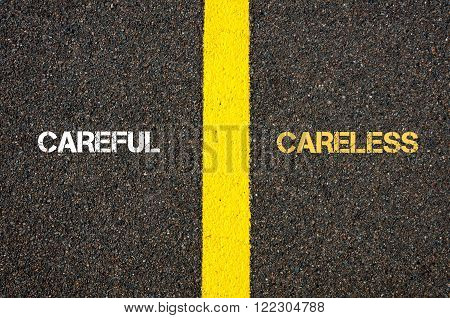 Antonym Concept Of Careful Versus Careless
