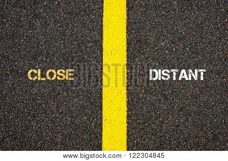 Antonym Concept Of Close Versus Distant