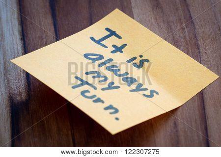 positive messages as a self help concept image