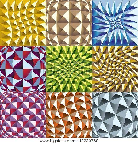 squares seamless patterns