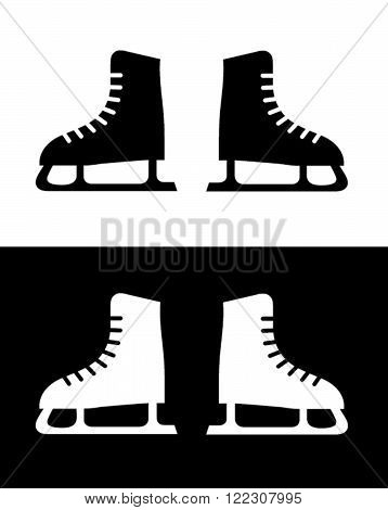 A Pair of Vector Skates in Black and Reverse
