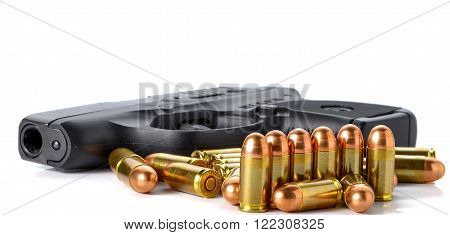 Bullet gun isolated on a white background.