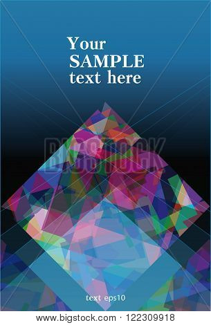 blue booklet abstract with motley geometrical design