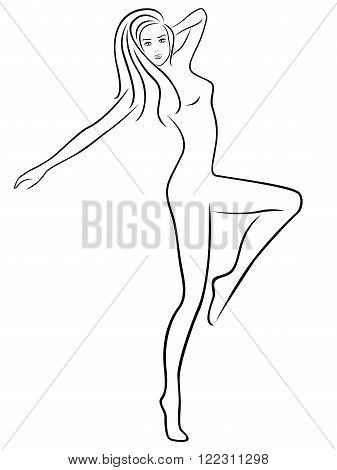 Abstract Slender Female During Fitness