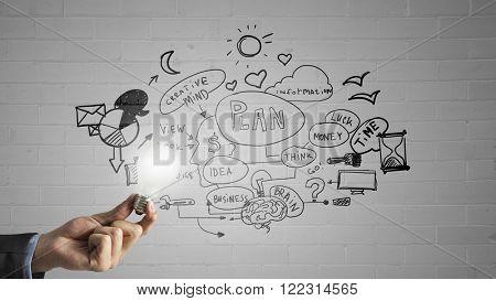 Bright idea for success achieving