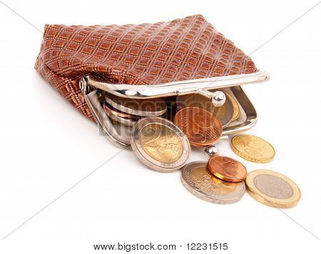 Euro Money In Purse