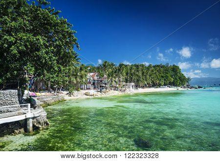 diniwid bay beach in tropical paradise boracay philippines