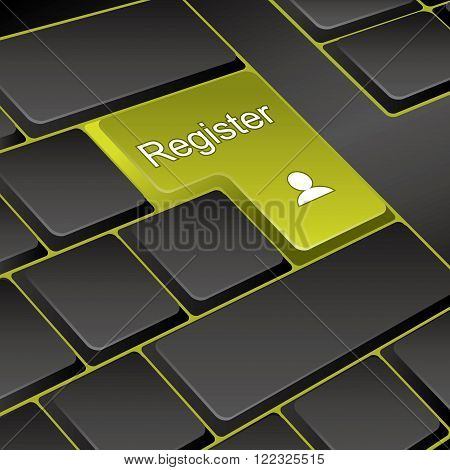 vector keyboard. key register