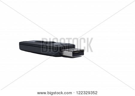 black flash card on the white background
