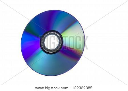 CD with lots of vivid colors reflected on its surface