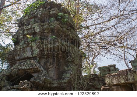 Part of the Angkor Wat temple in Cambodia.