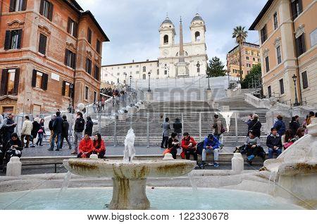 Spanish Square (piazza Di Spagna). Rome Italy