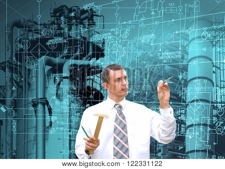 Industrial engineering technology.  manufacturing industry concept background