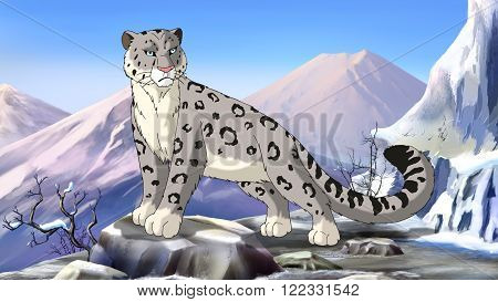 Snow Leopard Image.