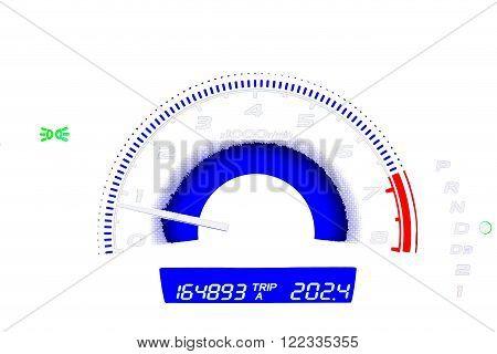 Mileage or Car dashboard for automotive background
