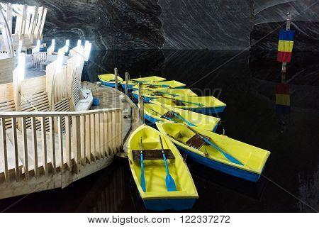 TURDA, ROMANIA - MARCH 2016: Salt mine and museum in Turda on 07th of March in Turda, Romania