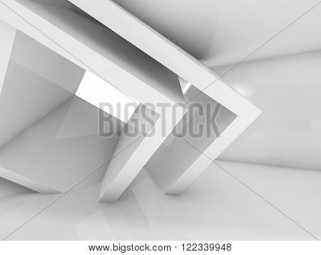 Empty Architecture Background, 3 D Illustration
