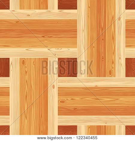 Square platting parquet seamless floor texture. Editable vector pattern in swatches.