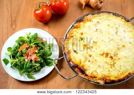 Baked Quiche With Field Salad