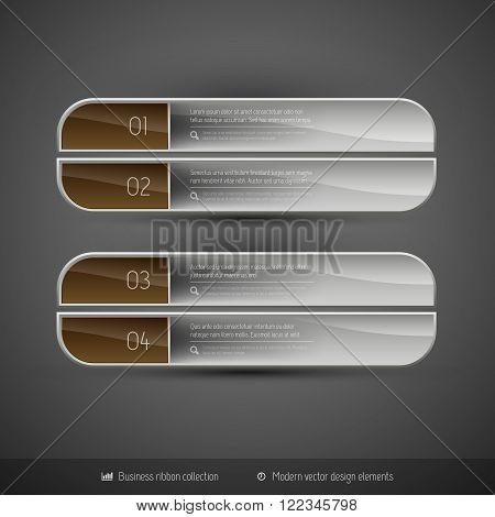 Vector Business Banners On The Dark Background For Infographics Webdesigns Ets.