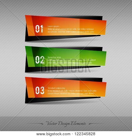 Business Stickers On The Gray Background For Infographics Webdesigns