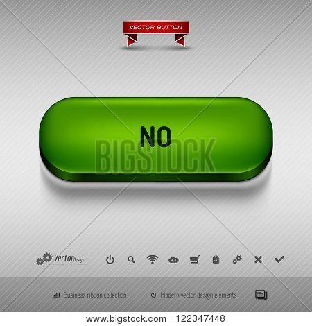Green Button For Webdesign Or App. Vector Design Elements.
